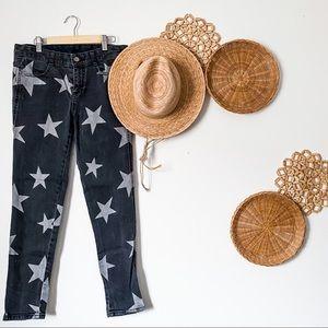 Stella McCartney Vintage Black Star Trousers SZ 26